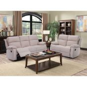 Brand New Boxed 3 Seater Plus 2 Seater New Jersey Sofas In Beige