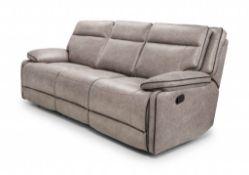 Brand New Boxed Cheltenham Reclining Sofa In Dark Grey Leather Manual