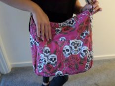 2 x HT London Large Shoulder/Tote Bags. Skull Design. Brand New. RRP £19.99 Each