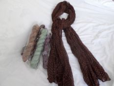 10 x Luxury Scarfs. RRP £10 Each. Brand New