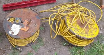 2 x 40-meter cable reels 7 core wire for trailer boards