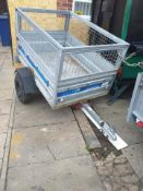 Galvanised camping trailer 3ft by 4ft