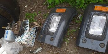 Truck lights from man or Scania truck wagon