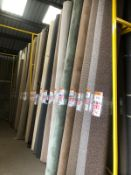 Two Bays Of Carpet Stands Direct From The Showroom Each Bay 4M High X 4M Wide X 1200Mm Deep