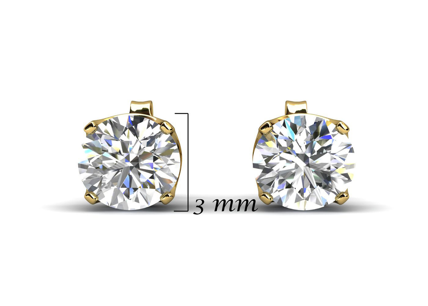 Lot 45 - 9ct Claw Set Diamond Earrings 0.20 Carats