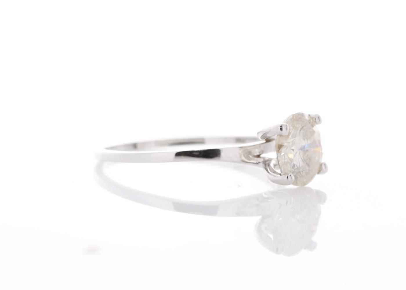 Lot 7 - 18ct White Gold Rex Set Diamond Ring 1.19 Carats