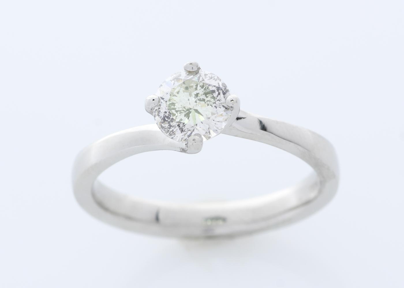 Lot 39 - Platinum Prong Set Diamond Ring 0.68 Carats