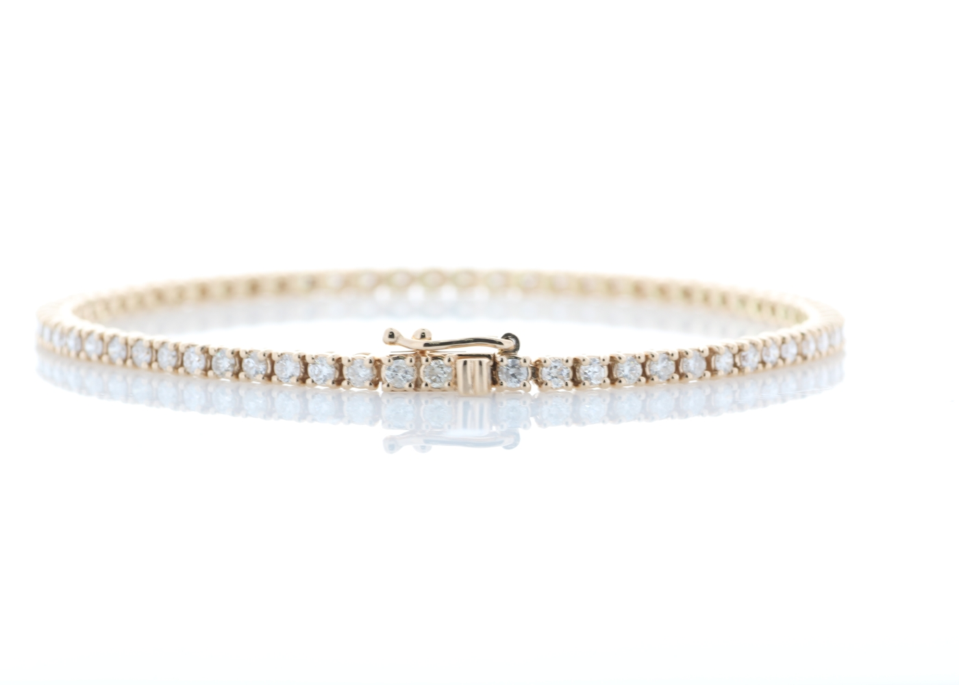 Lot 6 - 18ct Rose Gold Tennis Diamond Bracelet 2.00 Carats