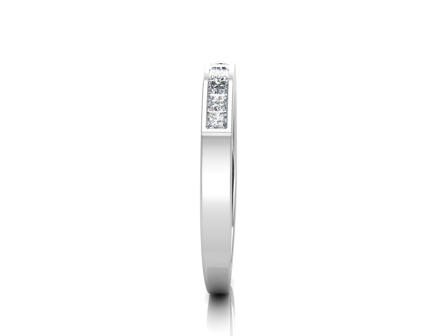 Lot 50 - 9ct White Gold Channel Set Half Eternity Diamond Ring 0.50 Carats