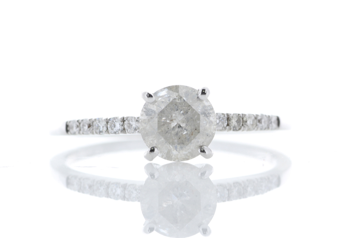 Lot 20 - 18ct White Gold Diamond Ring 1.01 Carats
