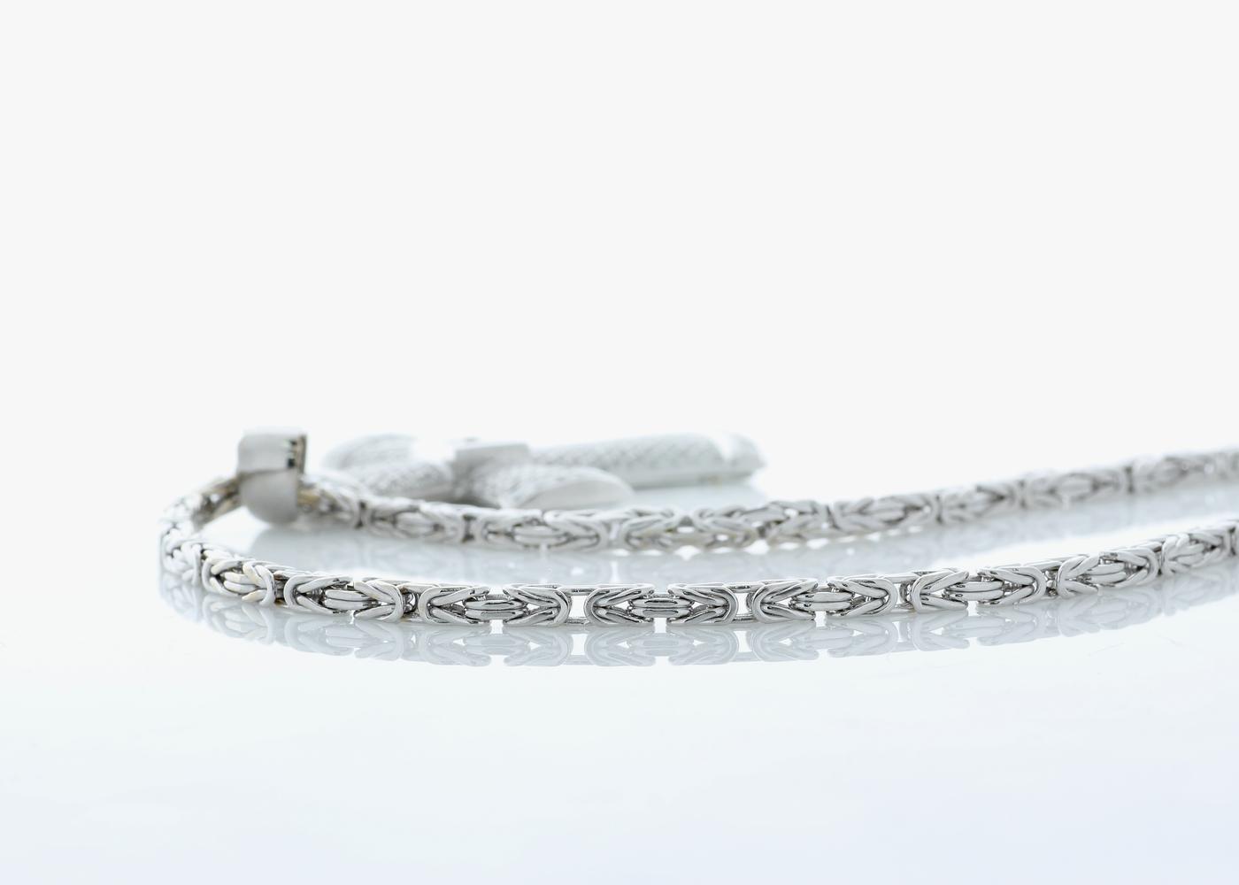 Lot 37 - 18ct White Gold Diamond Cross Pendant and Chain 5.12 Carats Carats