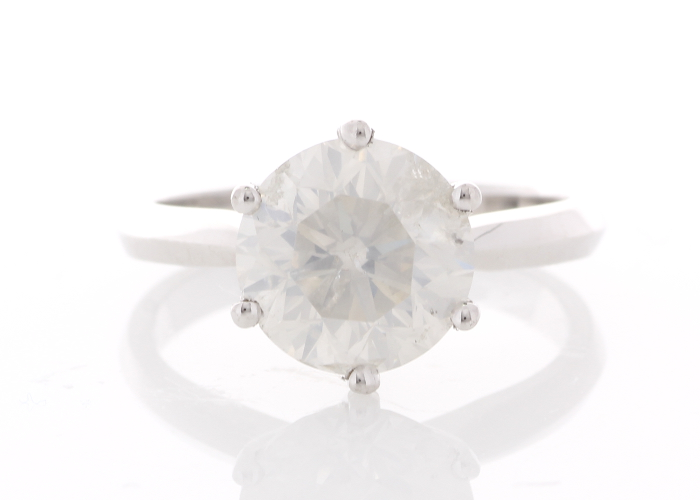 Lot 12 - 18ct White Gold Prong Set Diamond Ring 3.00 Carats
