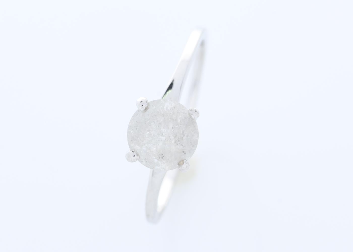 Lot 9 - 18ct White Gold Wire Set Diamond Ring 1.05 Carats