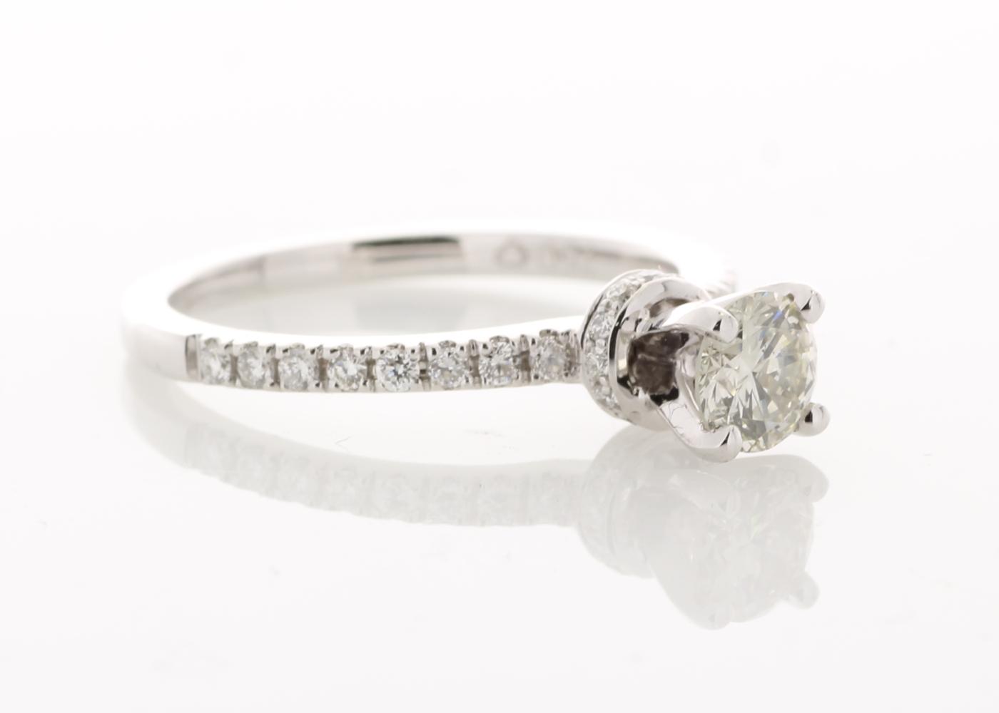 Lot 21 - 18ct White Gold Diamond Ring 0.73 Carats