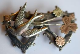 WW2 Era Silver And Gold Sweetheart Brooch