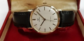 9ct Gold Omega Geneve Just Serviced
