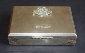 Glamorgan Badged EPNS Cigarette Box