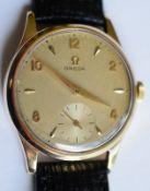 Vintage 9ct Gold Omega c1950s Fully Serviced