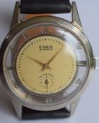Early Swiss Made Eden Wristwatch With See Through Back