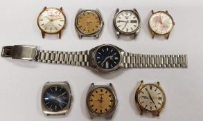 8 Seiko Watches As Found Workshop Clearout