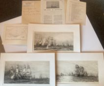Rare Royal Trafalgar Full Folio Set Of Etchings. William Lionel Wyllie