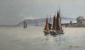 "Signed watercolour by J T W Layton ""Dover"""