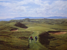 Royal Troon golf course - Signed limited edition A/P Print by Peter Munro