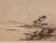 Ivan M Garden signed etching Millport North Ayrshire