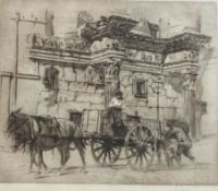 William Walcot RA (1874-1943), Temple of Minerva etching, signed in pencil