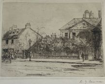 "David Young Cameron signed etching ""Paisley house"""