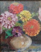 Original oil painting in the manner of Anne Redpath ARSA, RSA, RWA, ARA, OBE signed lower left