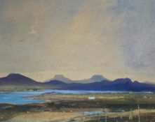 "Cecil Arthur Hunt 1873-1965 RWs, RSA signed watercolour ""Macleods Tables"" Isle of Skye"