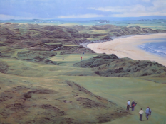 Royal Portrush golf course - Signed limited edition Print by Peter Munro