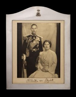 Royalty The Duke and Duchess of York (later HM King George VI and Queen Elizabeth) - rare silver