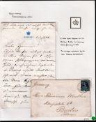 Queen Victoria Two pence halfpenny value Thirteen A Envelope: Germany Mr Hermann Muther Konigsplatz