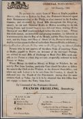 G.B. - Registered Mail / Post Office Notices 1823 Post Office Notice (minor faults) explaining and i