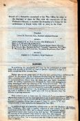 """G.B. - Military c.1881 Six-page printed """"Report of a Committee at the War Office ... to consider the"""