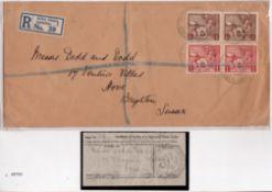 G.B. - British Empire Exhibition 1924 Long registered cover with the British Empire Exhibition regis