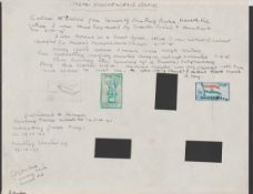 India 1947 Independence issue, original watercolour or pencil sketches of the issued designs by T.I