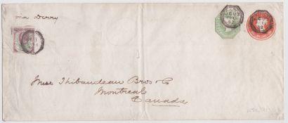Great Britain - Q.V. Postal Stationery 1892 Long 4d + 1/- printed to private order postal stationer