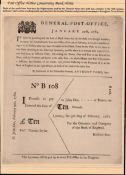 G.B. - Registered Mail / Post Office Notices 1789 Post Office Notice explaining and illustrating how