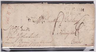 G.B. - Isle of Wight / Naval Mail 1797 Entire letters written by C. Belcher from the Gun Vessel Pier