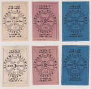 G.B. Railways 1868 Sirhowy Railway 1868 1/6 (8, with a reconstructed corner block of six), 2/6 (2) a