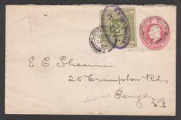 G.B. - Railways 1904 KEVII 1d postal stationery envelope to Penge bearing 2d L.N.W.R. letter stamp c
