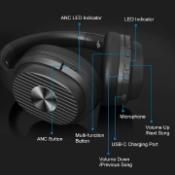 eksa e5 active noise cancelling wireless headphones