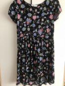 brand new brave soul black floral dress in size medium