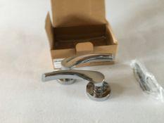 5 x pairs extra architectural hardware aluminium sofia lever on rose
