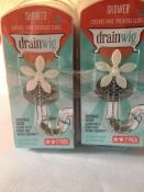 10 x 2 pack drainwig catches hair & prevents clogs