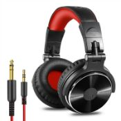 neodio pro-10 adapter-free over-ear dj stereo monitor headphones hifi uk
