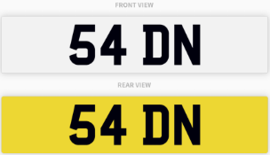54 DN , number plate on retention